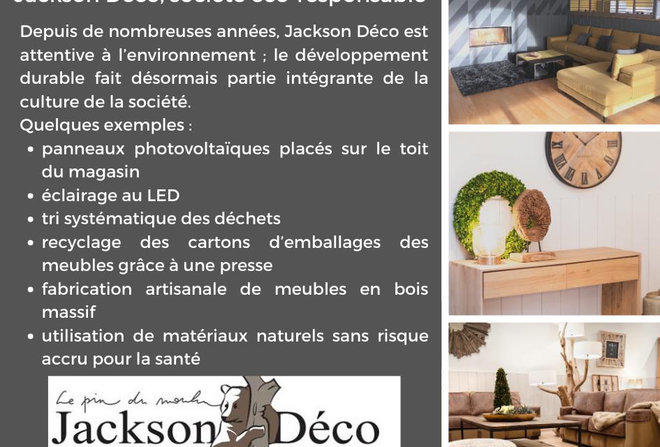 Jackson Déco, société éco-responsable