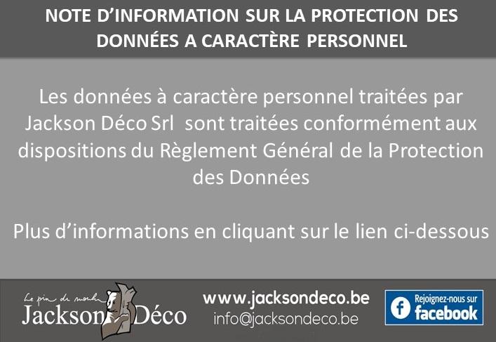 Note d'information sur la protection des données à caractère personnel